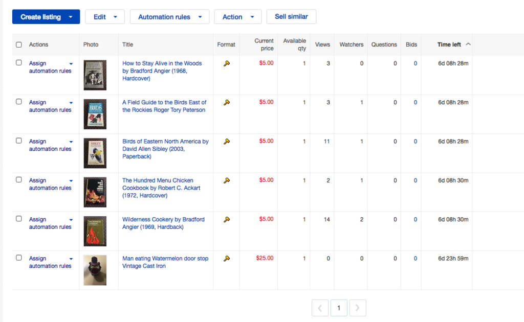 eBay Seller Hub eBay Sales