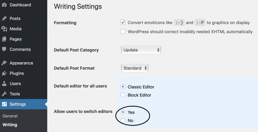 WP Editor Choice